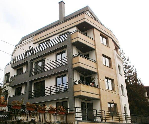 Residential building with underground garages, Geo Milev housing district