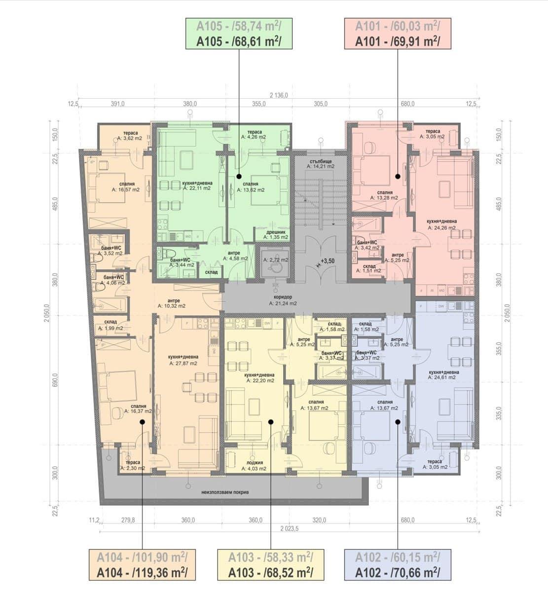 Сграда А – Етаж 1