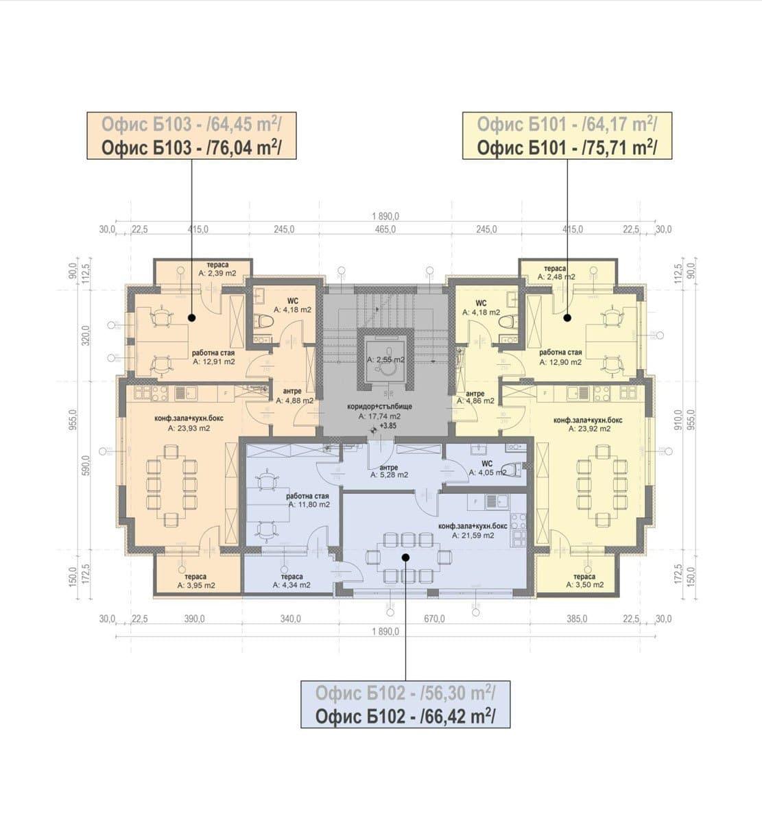 Сграда Б – Етаж 1