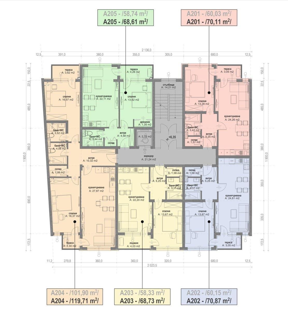 Сграда А – Етаж 2
