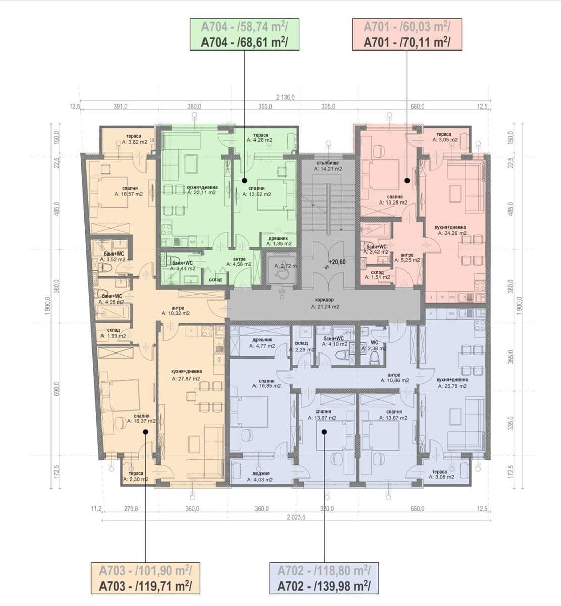 Сграда А – Етаж 7