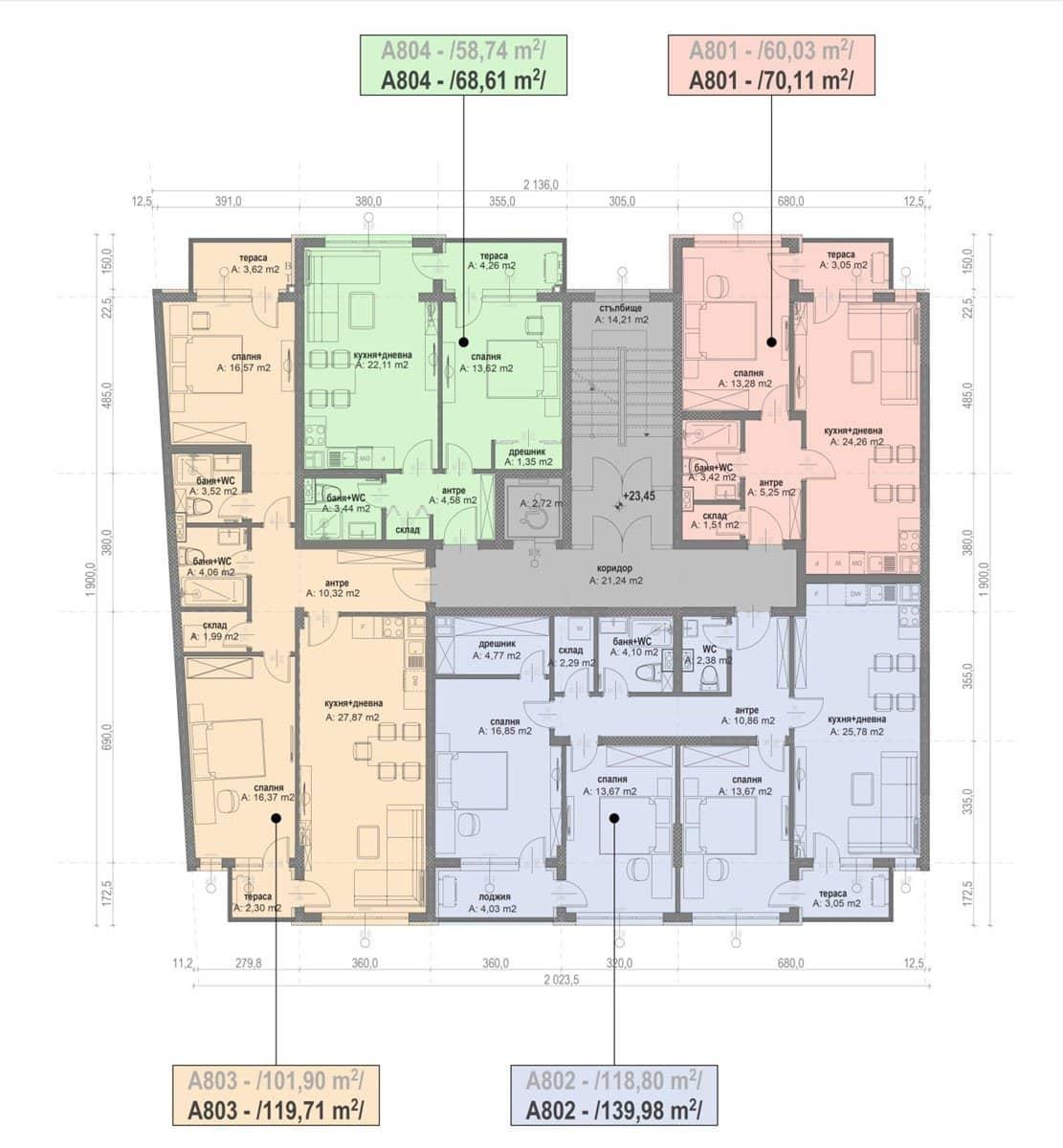 Сграда А – Етаж 8